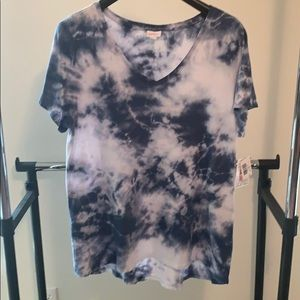 LuLaRoe 2XL Christy Blue Tie-Dye